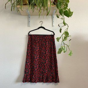 Plus Size Christopher & Banks Floral Skirt
